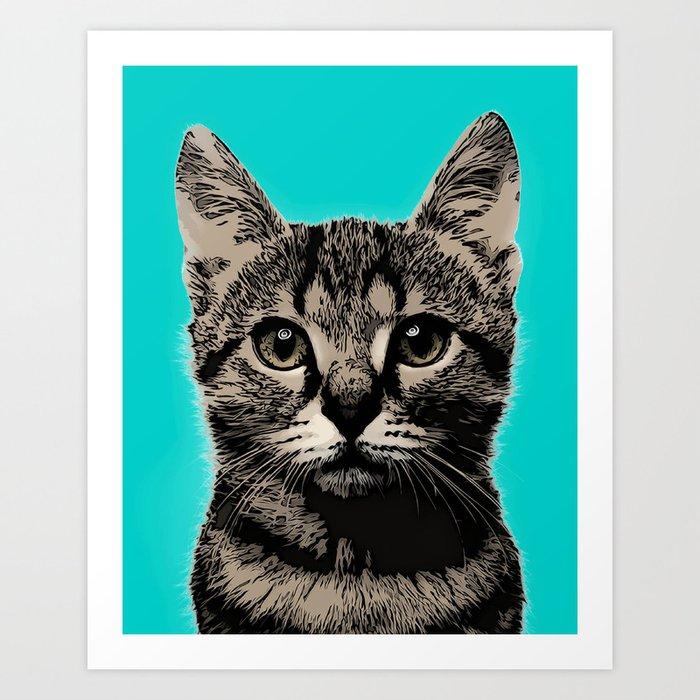 cat pop art cat art print by melafaypopart society6