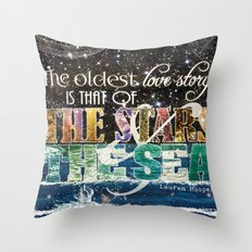The Stars and the Sea Throw Pillow