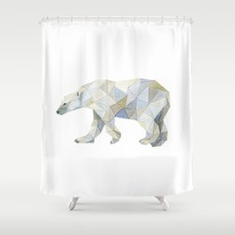 bear paint draw watercolor illustration Shower Curtain