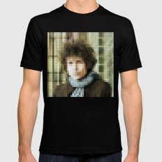 Bob Dylan - Blonde on Blonde - Pixel 2X-LARGE Mens Fitted Tee Black