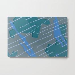 Camouflage City Rain Metal Print