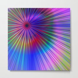 Pastel burst Metal Print