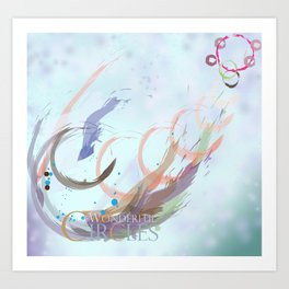 Wonderful Circles Art Print