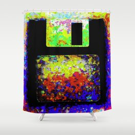Corrupted Floppy Disk Files Shower Curtain