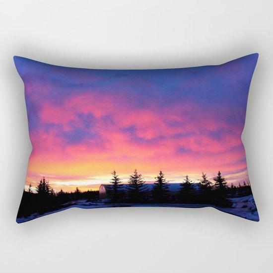 Cotton Candy Sunrise Rectangular Pillow