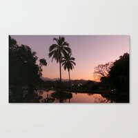 colombia Canvas Prints featuring SUNSET(Colombia) by patricia murray