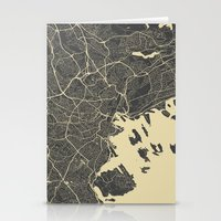 oslo Stationery Cards featuring Oslo Map by Map Map Maps