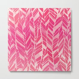 feather texture in pink Metal Print