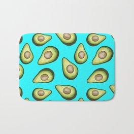 Avocado Pop Tropical Print Bath Mat