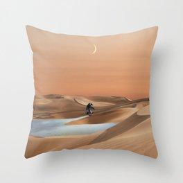 Waddle through Global Warming Throw Pillow