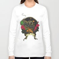 rocket raccoon Long Sleeve T-shirts featuring Rocket Raccoon by Ginger Breo