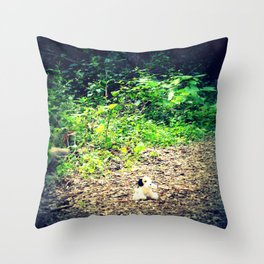 Lost Puppy Dog Throw Pillow