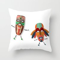 africa Throw Pillows featuring AFRICA by Rceeh