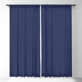 Solid Color Pantone Blue Depth 19-3940 Blackout Curtain