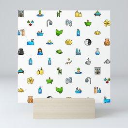 Spa and Beauty Pattern Fhrzl Mini Art Print