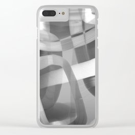Jujube Stew -- grayscale Clear iPhone Case