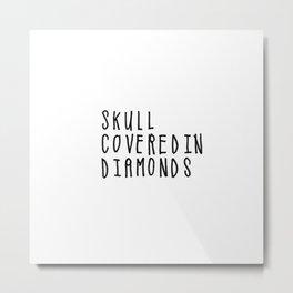 Skull Covered in Diamonds Metal Print