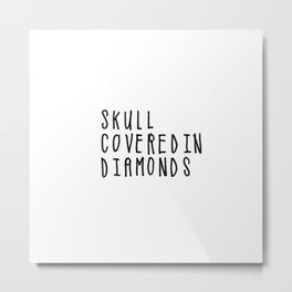 Skull Covered in Diamonds Metal Print