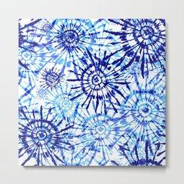 Circles Tie Dye Metal Print