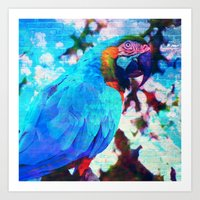 parrot Art Prints featuring Parrot by haroulita