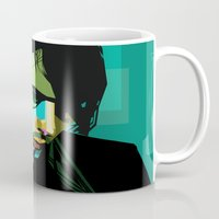 wes anderson Mugs featuring Brett Anderson by zomplag