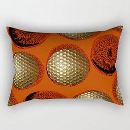 ORANGE RED GOLD Rectangular Pillow