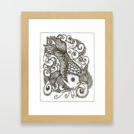 Sharpie Fish Framed Art Print