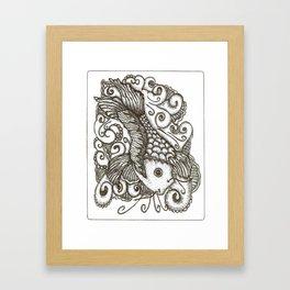 Sharpie Fish Framed Art Print