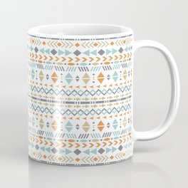 Southwestern Tribal Modern Geometric Stripes of Arrows Chevrons Diamonds Leaves Triangles Circles Coffee Mug