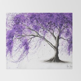 Purple Tree Throw Blanket