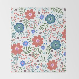 Pretty flowers and flourishes Throw Blanket