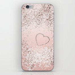 Sparkling ROSE GOLD Lady Glitter Heart #5 #decor #art #society6 iPhone Skin