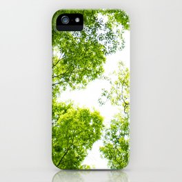 New green leaves iPhone Case