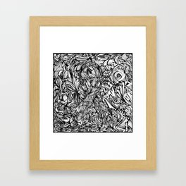 Conquer (Black & White Version)  Framed Art Print