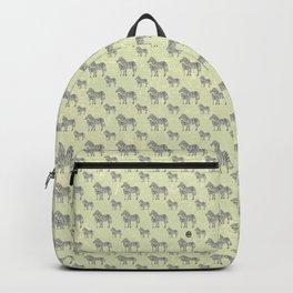 Swirly Zebra Family Backpack