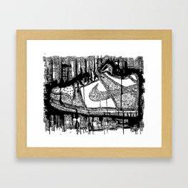 Dunk Low Ink Framed Art Print