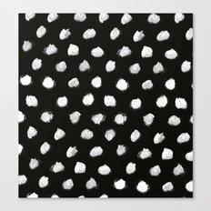 White Dots Pattern Canvas Print