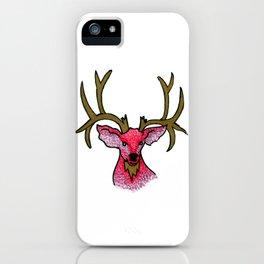 Oh Deer: Pink and Gold Deer Illustration iPhone Case