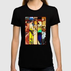 Apocalypto Nouveau LARGE Black Womens Fitted Tee