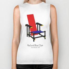 Red and Blue chair - Rood Blauwe stoel - Gerrit Rietveld Biker Tank