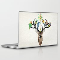 lindsay lohan Laptop & iPad Skins featuring deer birds by Manoou