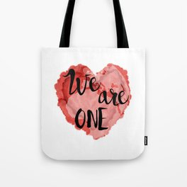 We Are One -Global Community Tote Bag