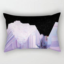 Glitch Valley at Night Rectangular Pillow