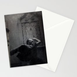Slytherin Inspired Gothic Dark Angel Black and White Stationery Cards