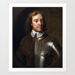 Oliver Cromwell Painting Art Print