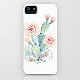 Prettiest Cactus Rose by Nature Magick iPhone Case