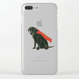 trusty sidekick - by phil art guy Clear iPhone Case