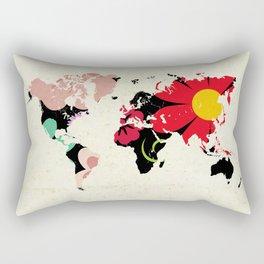 Flower map Rectangular Pillow