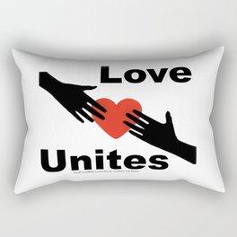 Love Unites Rectangular Pillow