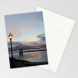 Natchez Bridge At Sunset Stationery Cards